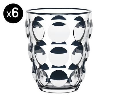 Verre Bolle Lot de 6 Verre artisanal Italesse transparent en verre