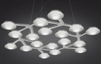 Luminaire - Suspensions - Suspension LED NET / Circulaire - Ø 65 cm - Artemide - Blanc - Aluminium peint, Méthacrylate