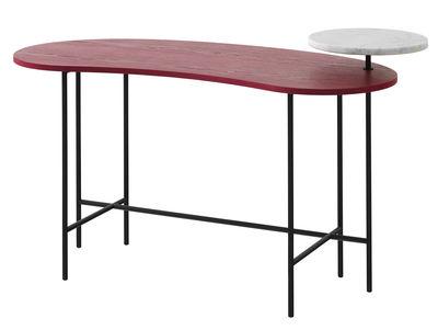 Bureau Palette JH9 / 2 plateaux - &tradition blanc,rouge,noir en métal