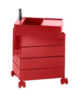 360° Rollcontainer 5 Schubladen - Magis - Rot glänzend