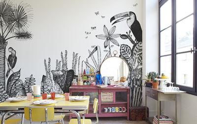 papier peint the wild 3 l s blanc noir bien fait made in design. Black Bedroom Furniture Sets. Home Design Ideas