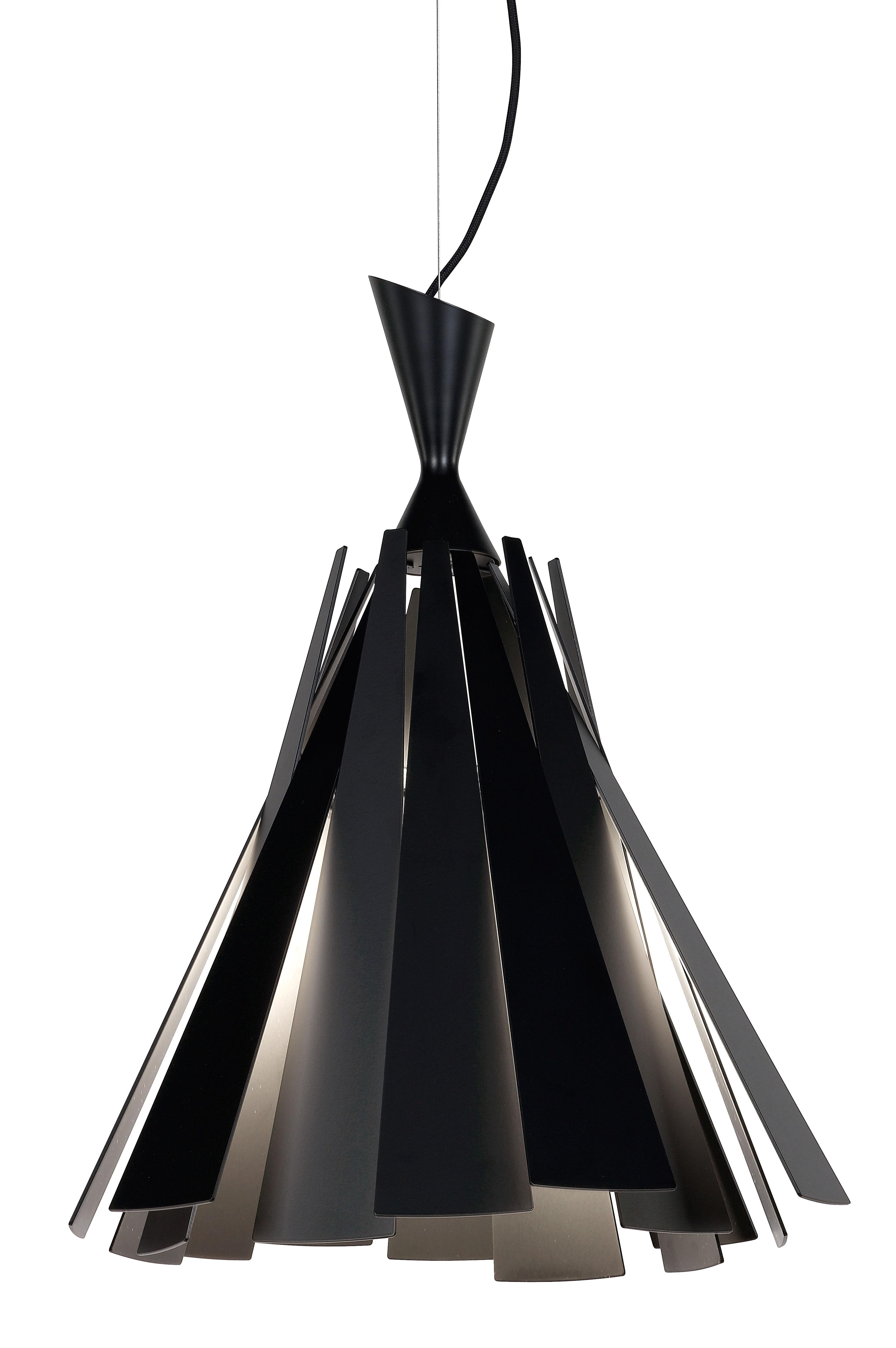 Metronome H Pendant Black By Delta Light Made In Design Uk