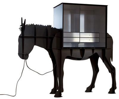 bureau martin / meuble ordinateur brun brossé - ibride - Meuble Secretaire Design