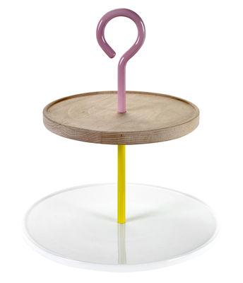 Serviteur My Jansen+co / Bois & porcelaine - Serax blanc,rose,jaune,bois en céramique