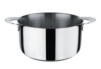 Cuisine - Casseroles, poêles, plats... - Faitout Dressed / Ø 20 cm - Alessi - Ø 20 cm / Acier brillant - Acier inoxydable 18/10