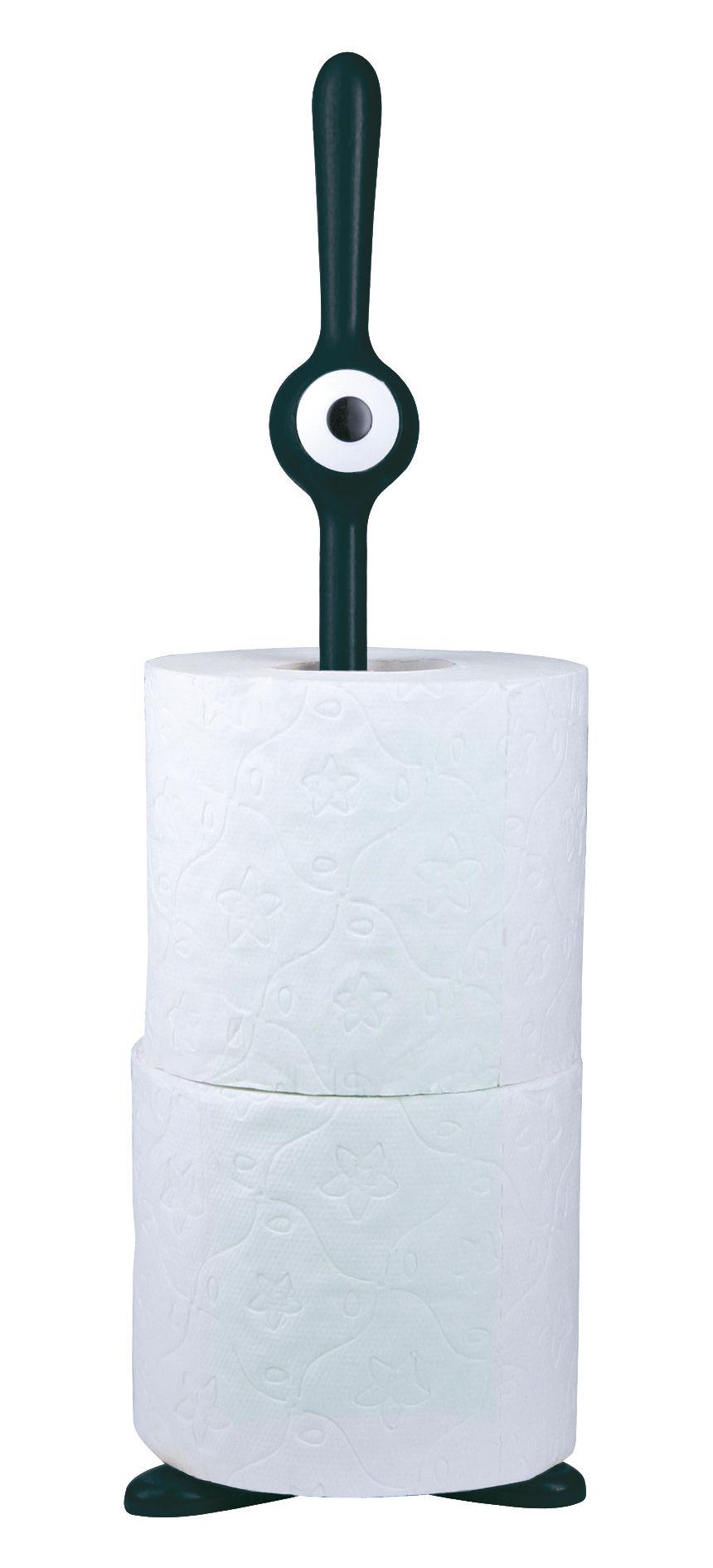 porte rouleau essuie tout toq papier toilette noir koziol. Black Bedroom Furniture Sets. Home Design Ideas