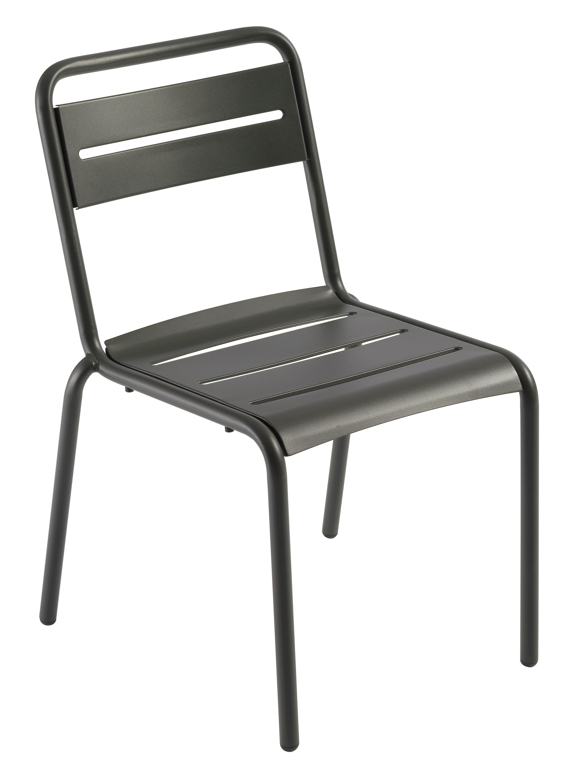 Star stapelbarer stuhl metall dunkles eisen matt by for Design stuhl metall