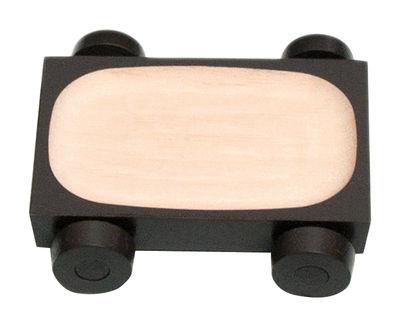 Plat Kart - K01 / 12 x 8 cm - Y´a pas le feu au lac gris-brun en bois