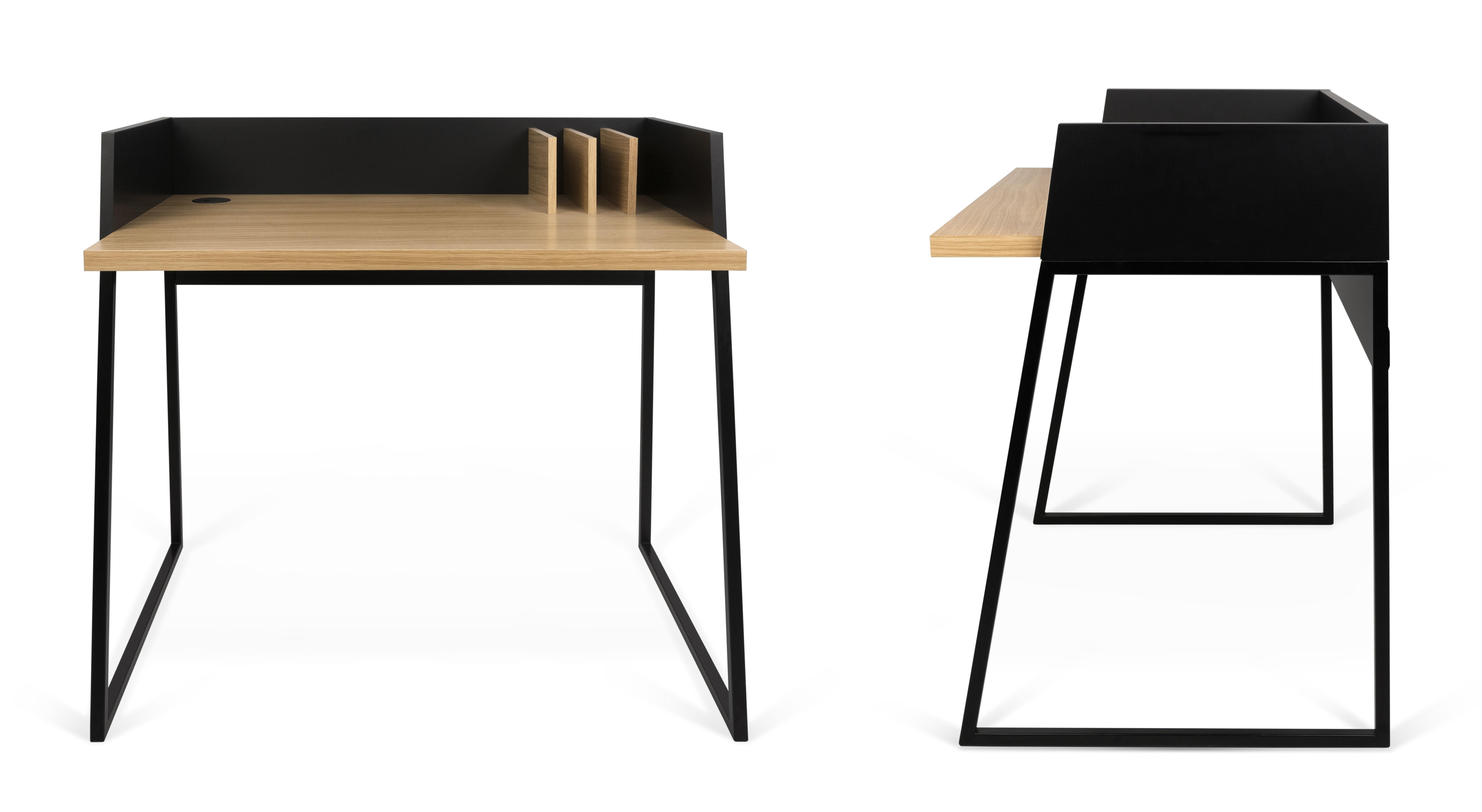 bureau working noir ch ne pop up home. Black Bedroom Furniture Sets. Home Design Ideas