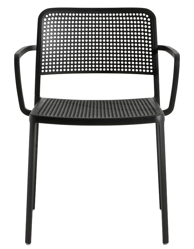 audrey stackable armchair   black by kartell