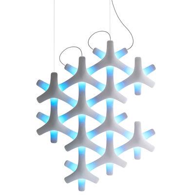Luminaire - Suspensions - Suspension Synapse LED RGB / 12 éléments modulables - Luceplan - Blanc - ABS, Polycarbonate