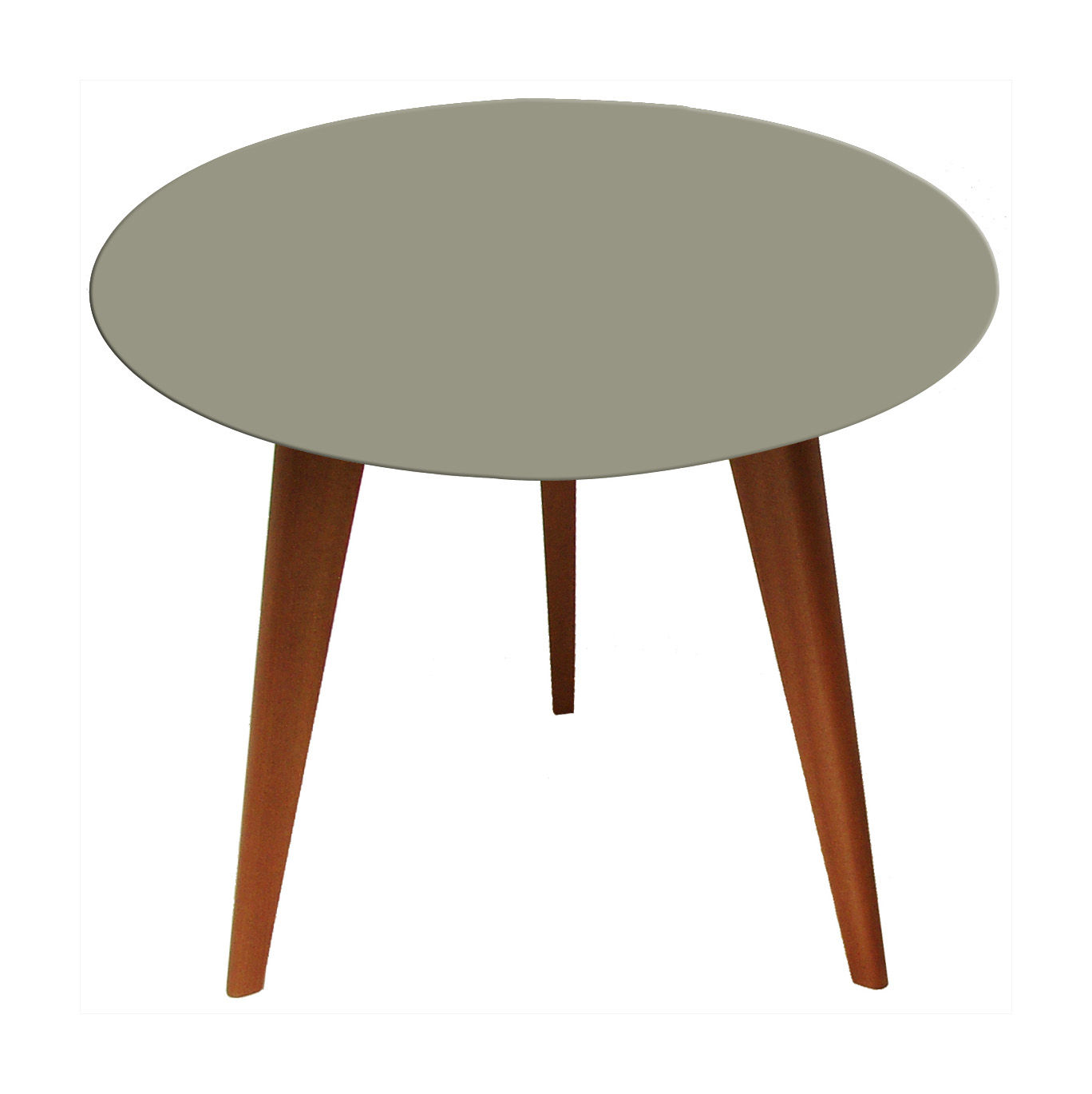 Lalinde ronde coffee table round small 45 cm grey top for Table ronde design 6 personnes