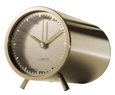 Horloge à poser Tube / Ø 5 cm - LEFF amsterdam laiton en métal
