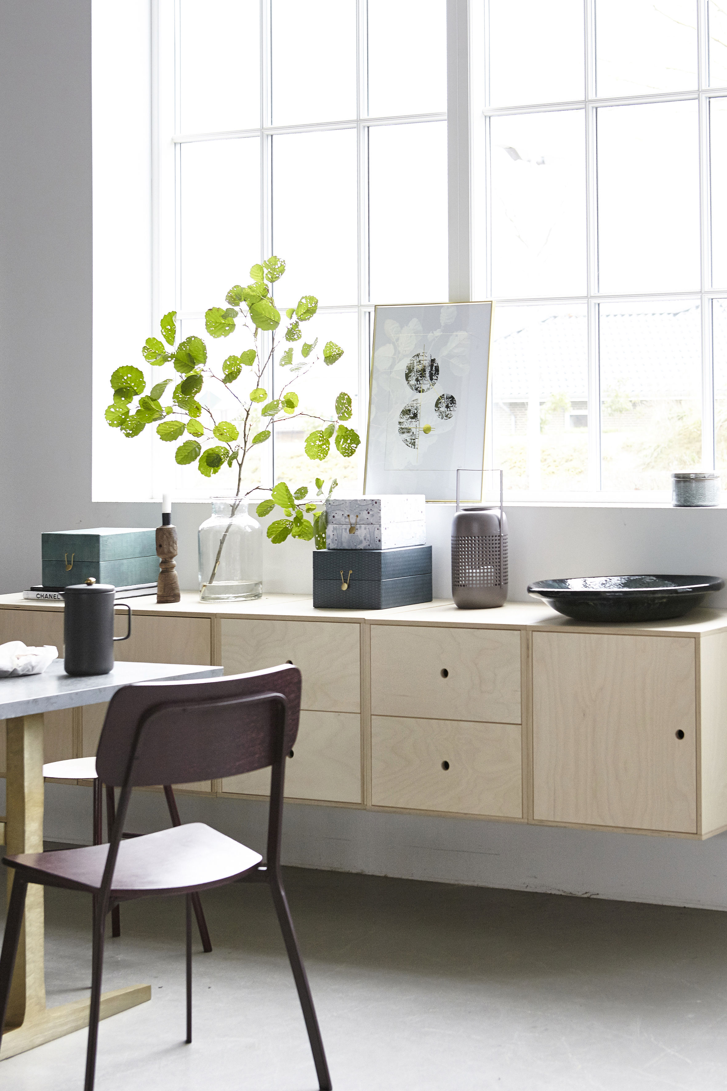easy cabinet e kiste 2 schubladen birke natur l 48 x h 50 cm birke natur by house. Black Bedroom Furniture Sets. Home Design Ideas