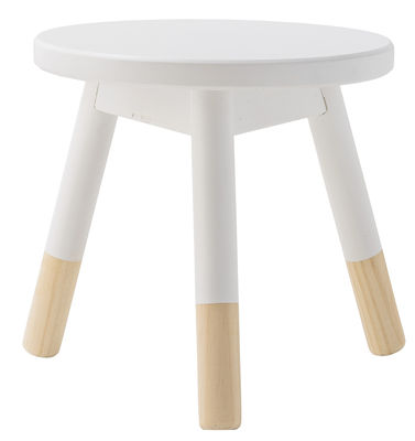 tabouret enfant bois h 30 cm blanc bloomingville. Black Bedroom Furniture Sets. Home Design Ideas