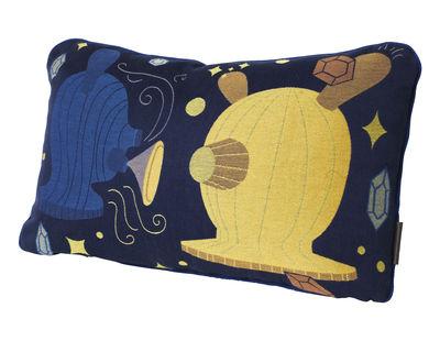 Coussin Jaime Hayón / 37 x 58 cm - Fritz Hansen bleu,jaune en tissu