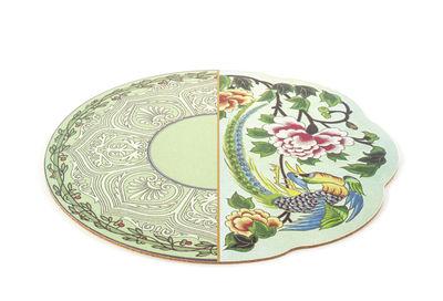 Set de table Hybrid Teodora / Ø 37 cm - Seletti multicolore en liège
