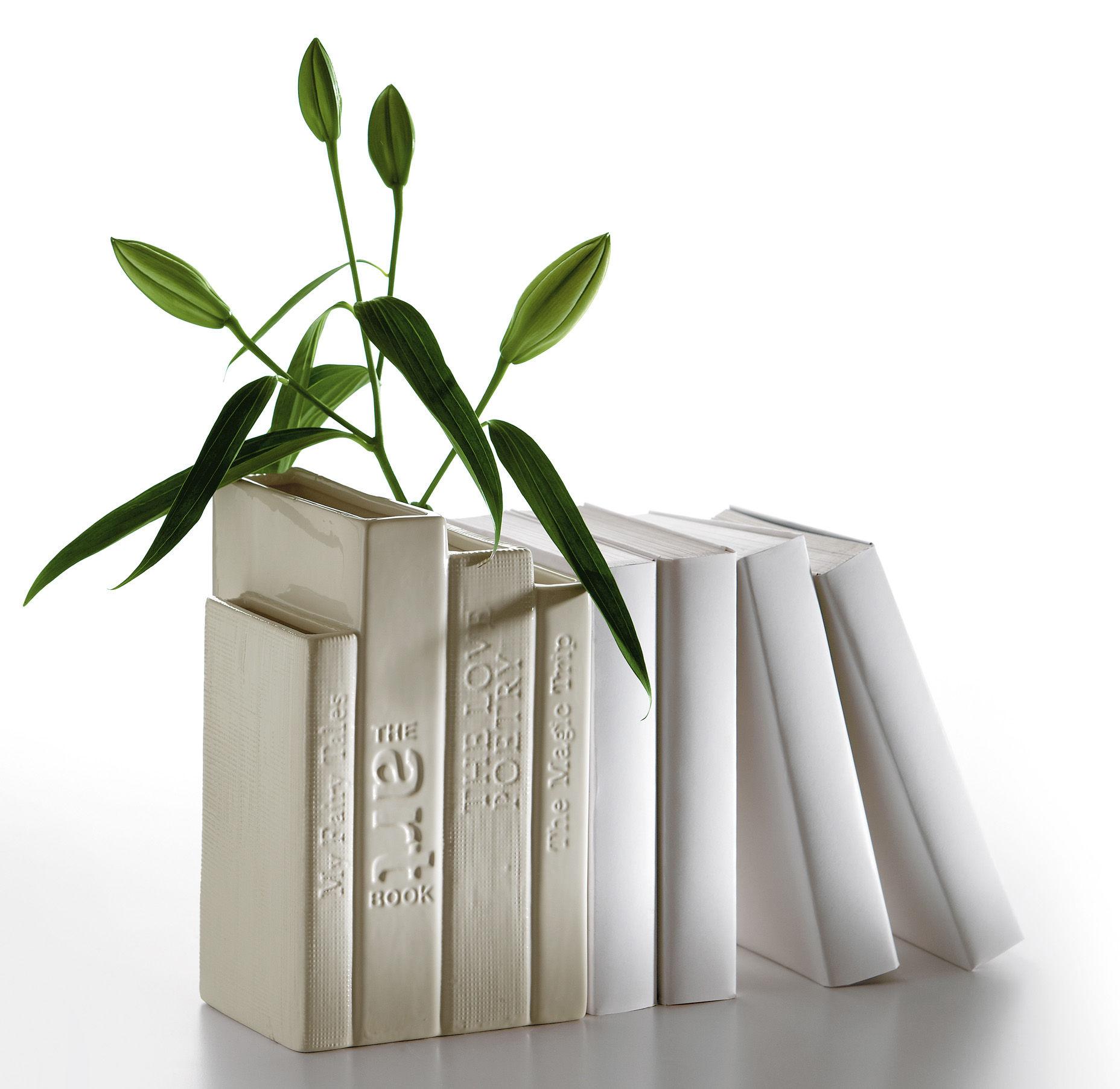 Biblio Tek Book End Vase White By Seletti