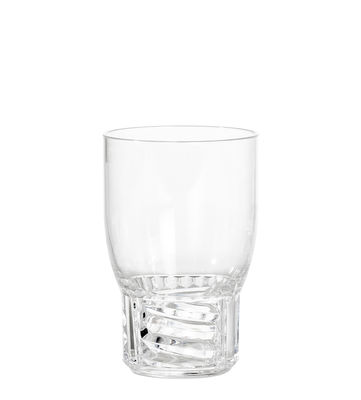 Verre Trama Medium / H 13 cm - Kartell cristal en matière plastique