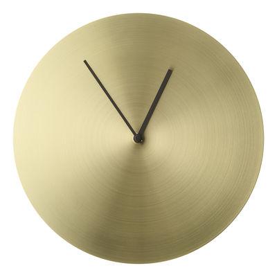 Déco - Horloges  - Horloge murale Norm / Laiton brossé - Ø 30 cm - Menu - Laiton brossé - Laiton massif brossé