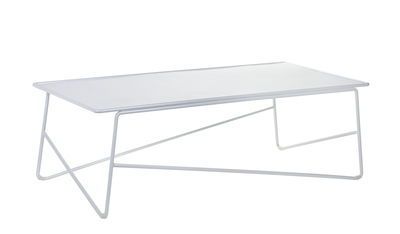 Table basse Fish & Fish / Large - 90 x 45 cm - Serax blanc en métal
