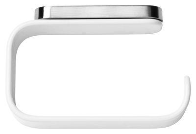 Dérouleur de papier toilette Menu blanc en métal