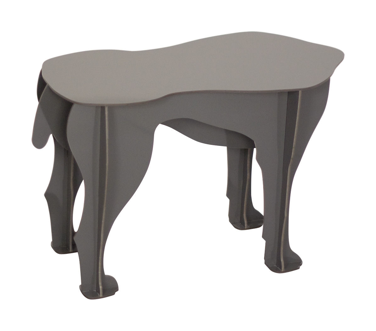 Sultan Stool Coffee Table Anthracite Grey By Ibride