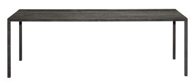 Table Tense Material / 90 x 200 cm - Chêne bruni - MDF Italia noir en bois