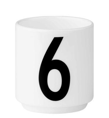 tasse espresso arne jacobsen porcelaine chiffre 6 blanc chiffre 6 design letters. Black Bedroom Furniture Sets. Home Design Ideas