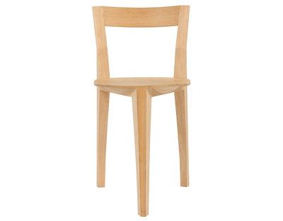 Mobilier - Chaises, fauteuils de salle à manger - Chaise Petite Gigue / Bois - Moustache - Bois clair - Chêne