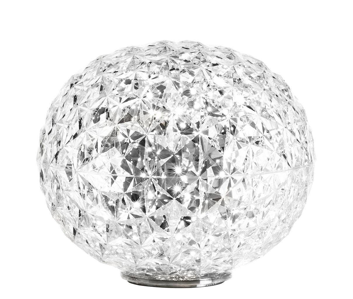 lampe de table planet led h 28 cm cristal kartell. Black Bedroom Furniture Sets. Home Design Ideas