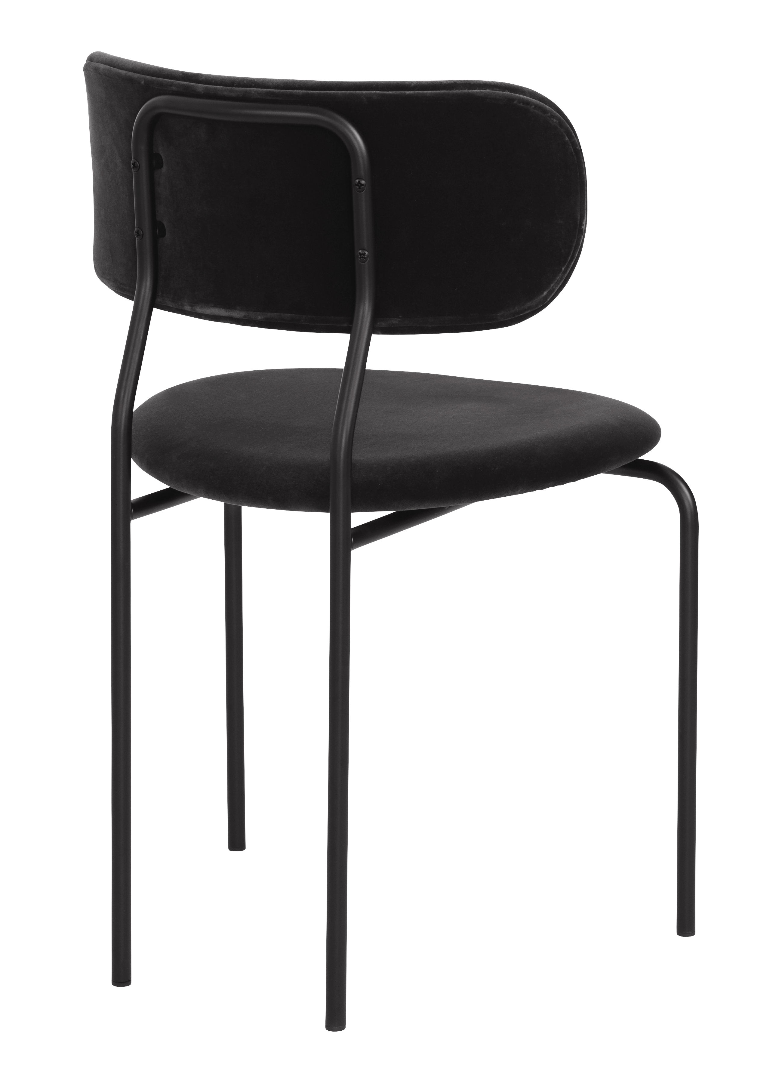 coco padded chair fabric black velvet by gubi. Black Bedroom Furniture Sets. Home Design Ideas