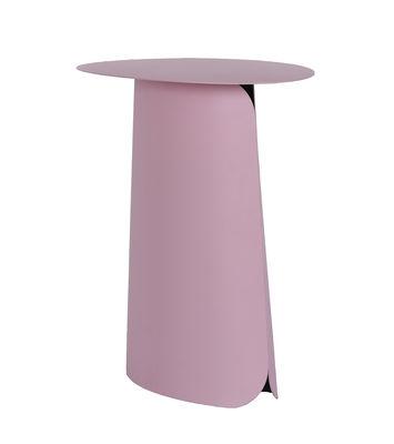 Mobilier - Tables basses - Table d'appoint High Collar / H 65 cm - ENOstudio - Rose pâle - Fer peint