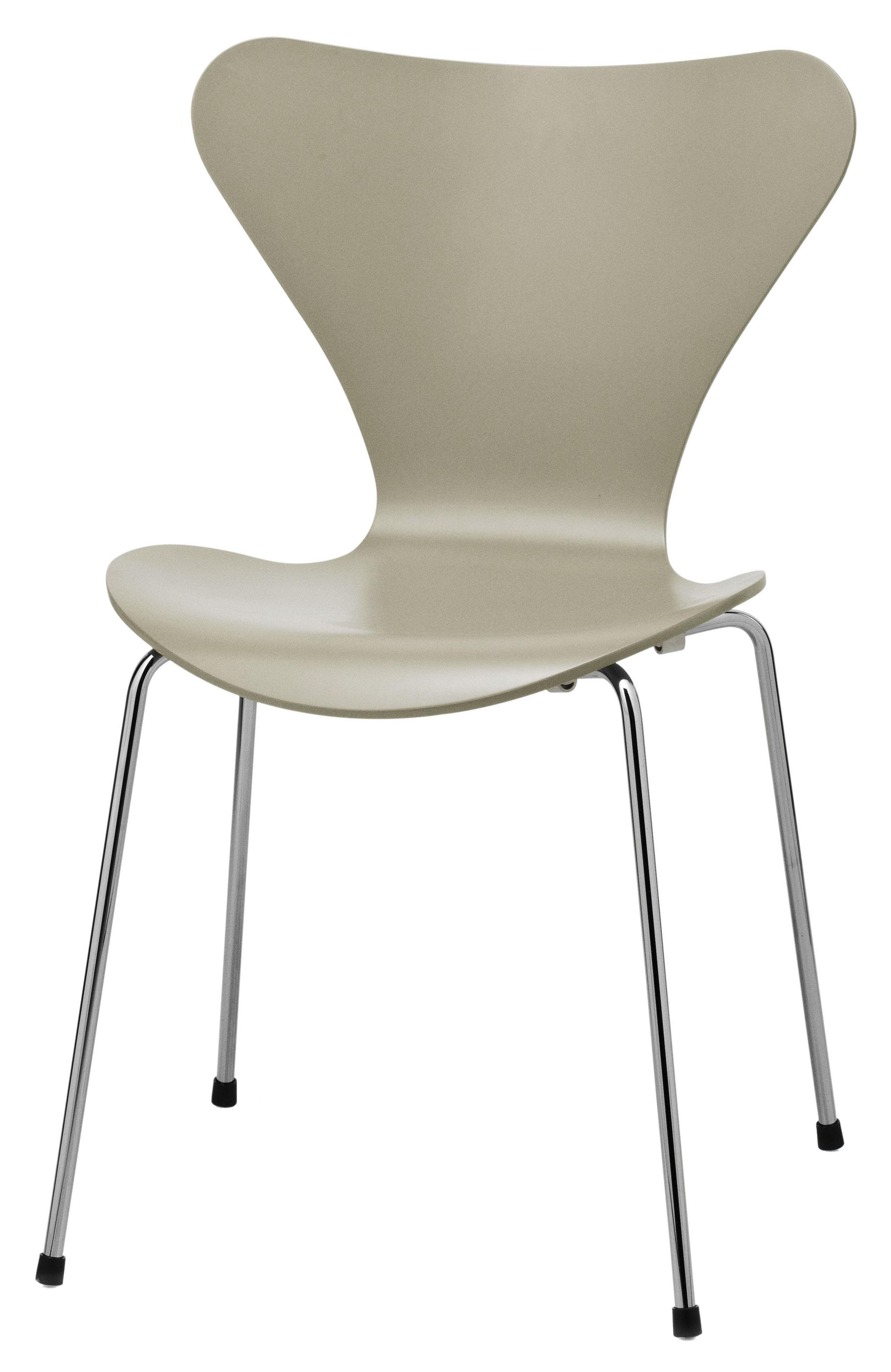 chaise empilable s rie 7 laqu e coloris exclusif gris olive fritz hansen. Black Bedroom Furniture Sets. Home Design Ideas