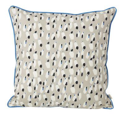 Coussin Spotted / 50 x 50 cm - Ferm Living gris,noir,bleu turquoise en tissu