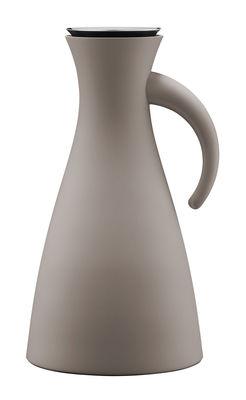 Pichet isotherme 1L Ø 15,5 x H 29 cm Eva Solo gris chaud en matière plastique