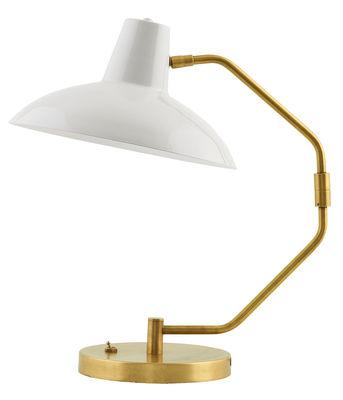 Desk Tischleuchte / H 48 cm - House Doctor - Weiß,Gold