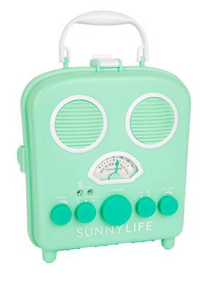 Image of Radio portatile Lucite / Autoparlante - A tenuta stagna - Sunnylife - Turchese,Verde chiaro - Materiale plastico
