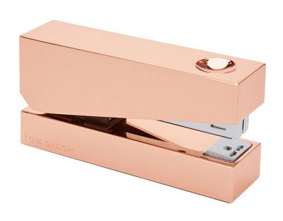 Accessoires - Accessoires bureau - Agrafeuse Cube - Tom Dixon - Cuivre - Alliage de zinc plaqué cuivre