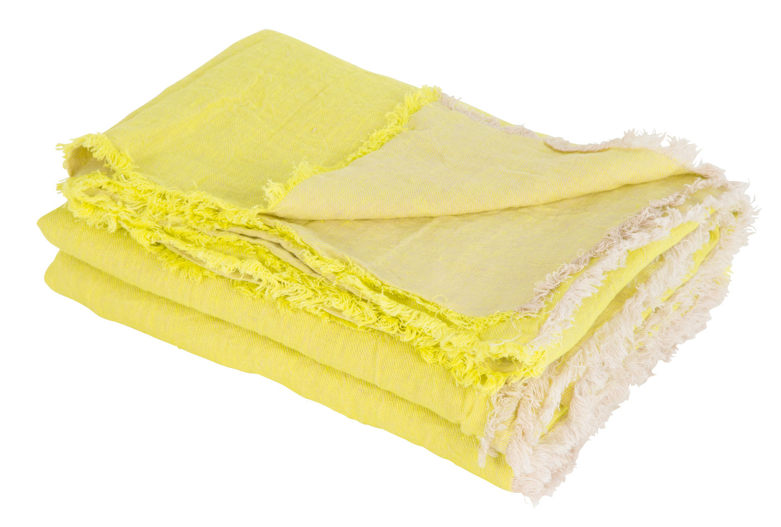 plaid vice versa 140 x 250 cm lin jaune acide maison. Black Bedroom Furniture Sets. Home Design Ideas