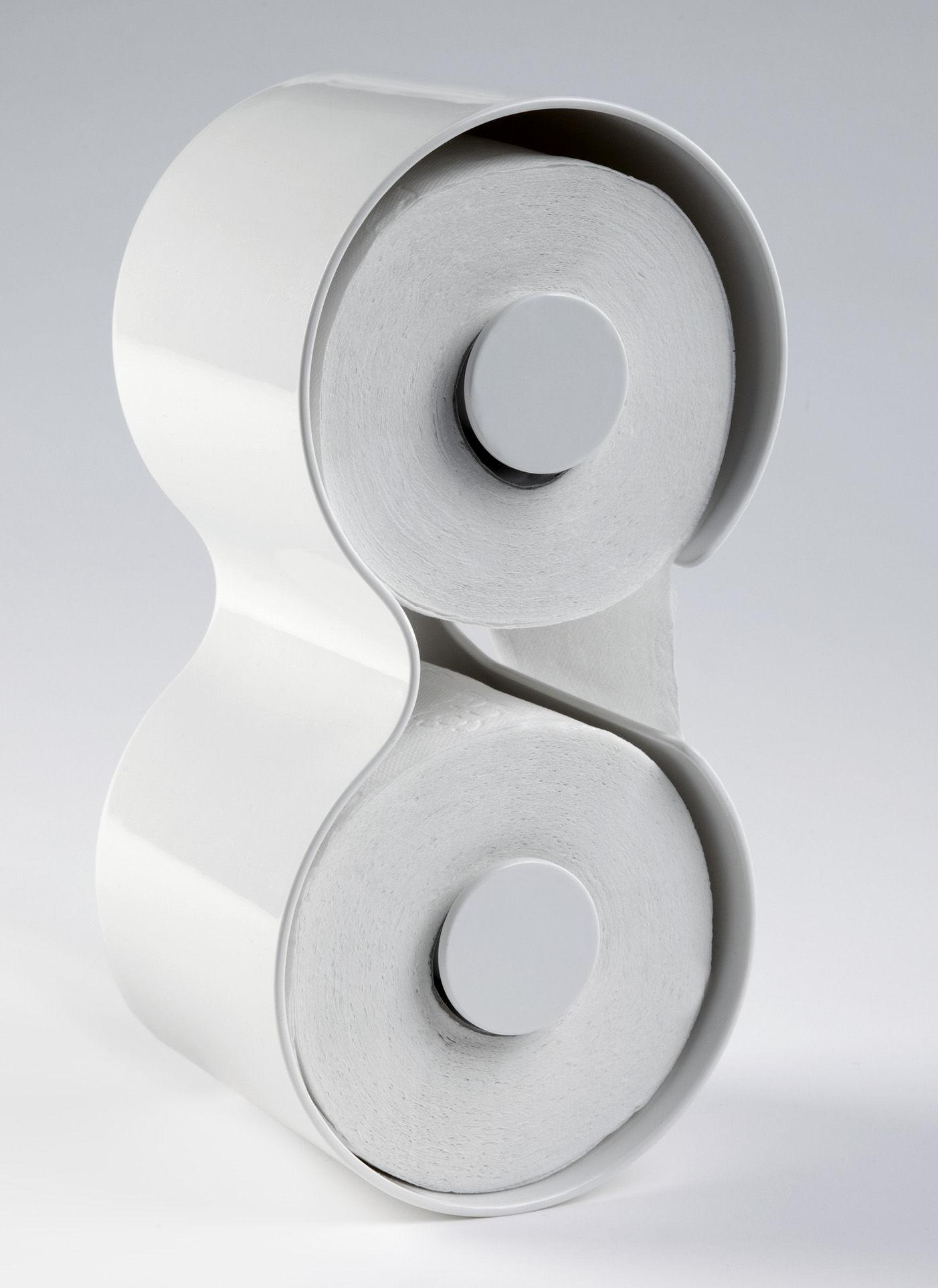 D rouleur de papier toilette kali blanc authentics - Derouleur de papier toilette original ...