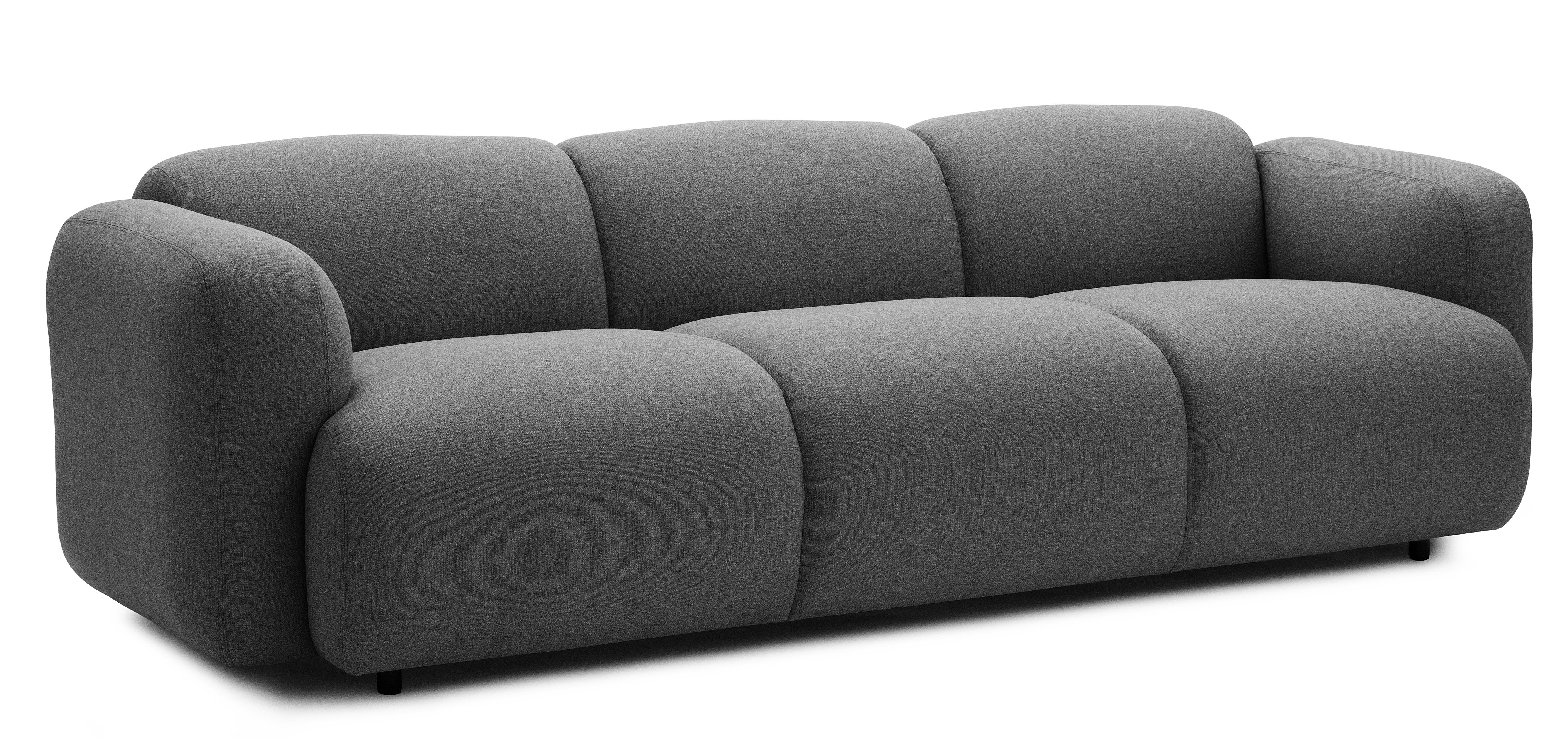 swell straight sofa grey by normann copenhagen. Black Bedroom Furniture Sets. Home Design Ideas
