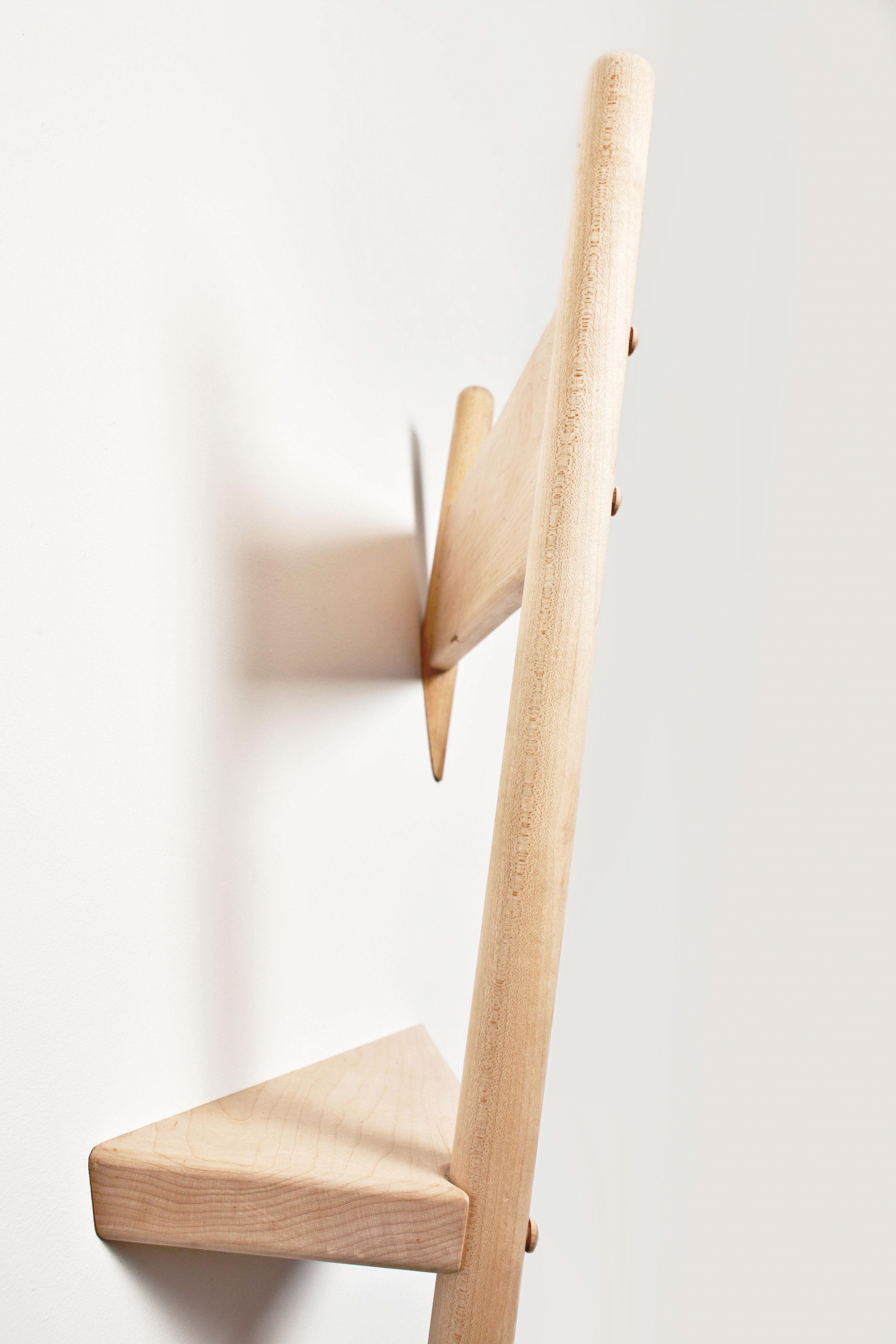 Portemanteau mural wallhax en forme de chaise ch ne for Chaise en forme de main