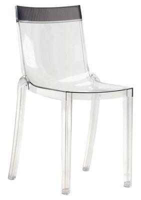 chaise empilable hi cut transparente polycarbonate cristal cristal kartell. Black Bedroom Furniture Sets. Home Design Ideas