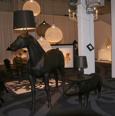 Horse lamp floor lamp black by moooi furniture exceptional furniture horse lamp floor lamp by moooi black polyester mozeypictures Gallery