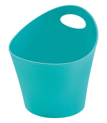 Pot Pottichelli / Cache-pot - Ø 17 x H 15 cm - Koziol turquoise opaque en matière plastique