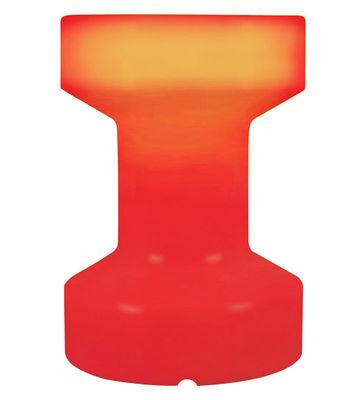 Foto Sgabello luminoso - luminoso/Senza fili ricaricabile - H 55 cm di Bloom! - Rosso - Materiale plastico
