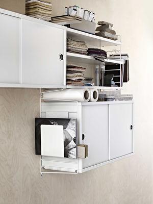 montant mural string system h 50 x p 30 cm l 39 unit blanc string furniture. Black Bedroom Furniture Sets. Home Design Ideas