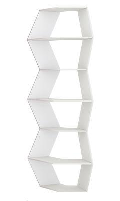 Libreria Zig Zag - Modello 2 di B-LINE - Bianco - Legno