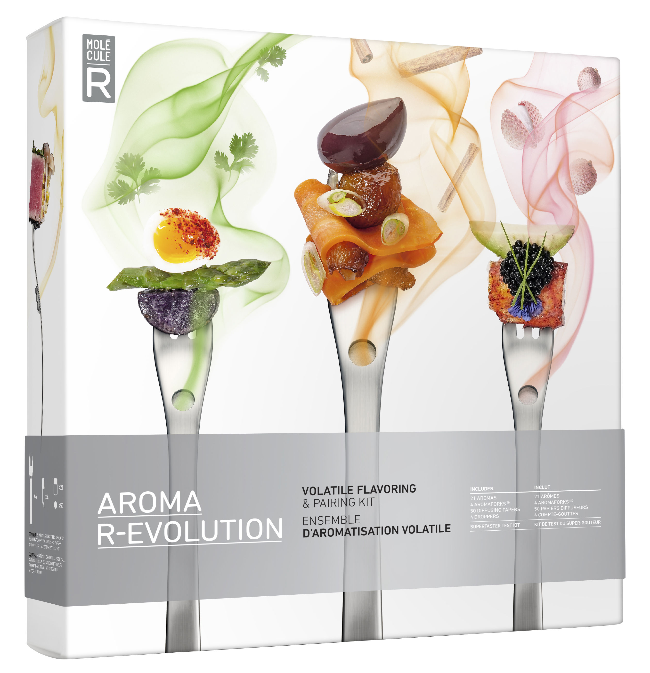Kit cuisine mol culaire aroma r volution aromaforks - Kit cucina molecolare ...